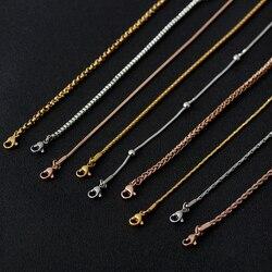 Вакуумное Покрытие Серебряное золото, розовое золото, цельное ожерелье, цепь из нержавеющей стали, аксессуары для мужчин и женщин