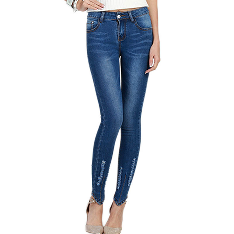 Popular Ripped Skinny Jeans for Women-Buy Cheap Ripped Skinny ...