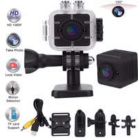 Waterproof 155 Degree Wide angle Lens Camcorder Full HD 1080P DV Video Recorder With IR Night Vision Sports Action Diving Camera