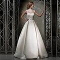 Moda 2016 nuevo blanco tafetán De la alta A-Line Wedding Dress Bridal Gown vestido De noiva Robe De Mariage casamento vestidos De boda