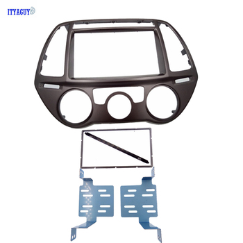 Xe Đài Phát Thanh DVD Bìa fascia phù hợp cho Hyundai I-20 I20 2012 + Nhãn Hiệu AC Tự Động Stereo Cài Đặt Fascia Bảng Điều Chỉnh Âm Thanh dash Trim Kit Facia