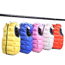 2017 New Children's Hooded Vest Kids Outerwear Winter Jackets Coats Cotton And Hooded Vest Baby Boys Girls Warm Clothes