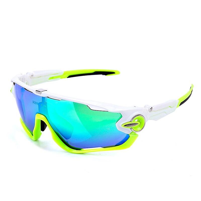JBR Cycling SunGlasses/Mountain Bike Goggles/4 Lens Cycling Eyewear Bicycle Cycling Glasses UV400 Polarized myopia Jaw