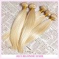 613 Платиновая Блондинка Плетение Волос 2 Шт. Лот Российской Блондинка Пучки Волос 100% 8А Класса Девы Необработанные Человеческие Волосы утка