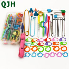 Home DIY Brand Knitting Tools Set Crochet Latch Curve Needle Mark Hand Needles Weave Accessories With Case Box