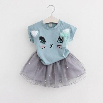 Cartoon Kitten Dress For Girls 2
