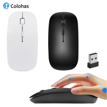 2.4G Wireless Gaming Mouse 1600 DPI USB Receiver Optical Computer Mouse For Macbook Laptop PC Notebook Desktop Ultra Slim Mice цена