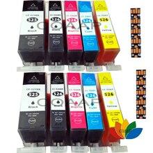 цена на 10 Printer cartridge set compatible PGI525-CLI526 with chip for CANON Pixma IX6550 MG5150 MG5250 MG5350 MG5350