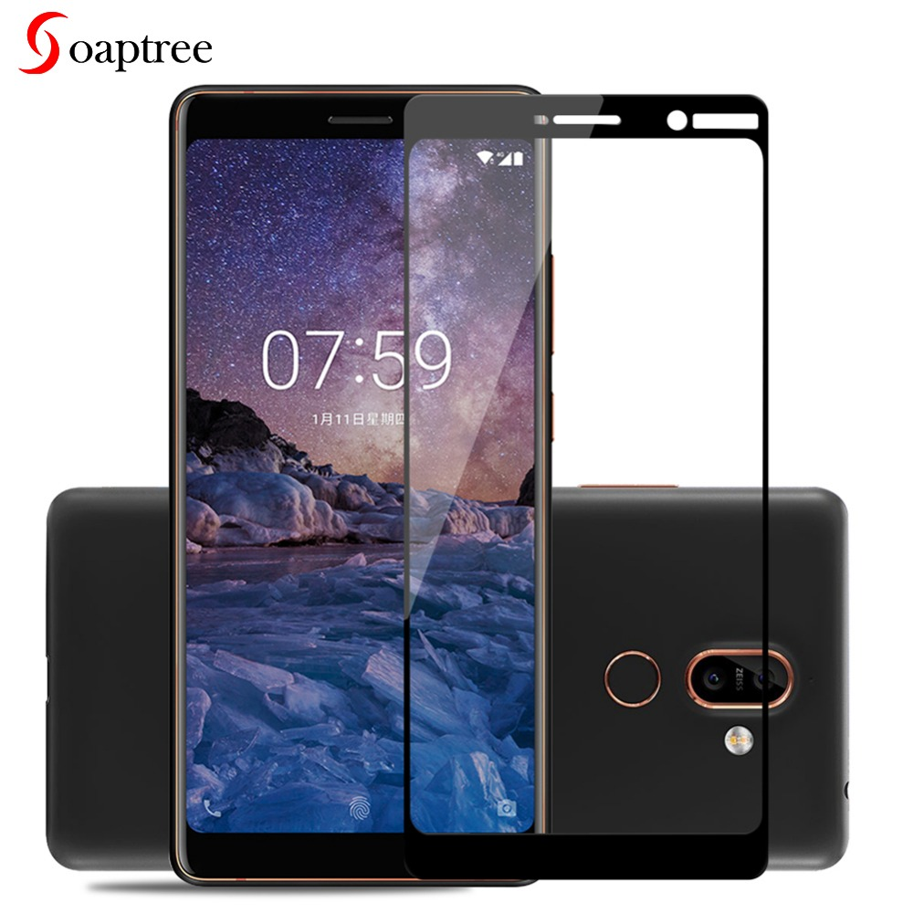Full cover Tempered Glass For <font><b>Nokia</b></font> 7 6.1 3 5 6 <font><b>5.1</b></font> 3.1 plus 3D 9H <font><b>screen</b></font> <font><b>protector</b></font> <font><b>Nokia</b></font> 8 X6 X5 3 E1 2 2018 protective glass image