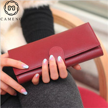 Free Shipping 100% Genuine Leather women's Long section of the multi-card wallet Retro purse.fashion Clutch Bag Christmas gift