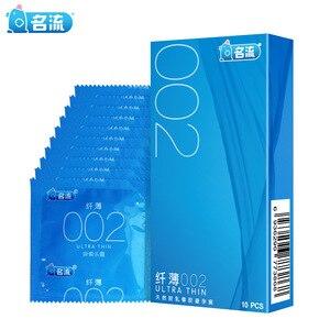 Mingliu 10pcs/lot Ultra Thin 002 Condoms High Quality Penis Sleeve Super Intimate Condones Kondom Adult Product Sex Toy For Men