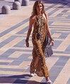 UK New Fashion 2017 summer Designer runway dress Luxury Sequined Embroidery Hippie Boho People Halter long dress Female vestido