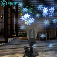 4W Christmas Lights Outdoor LED Snowflake Projector Light Snowflake Lawn Lamps Light Waterproof Snow Lasers Christmas