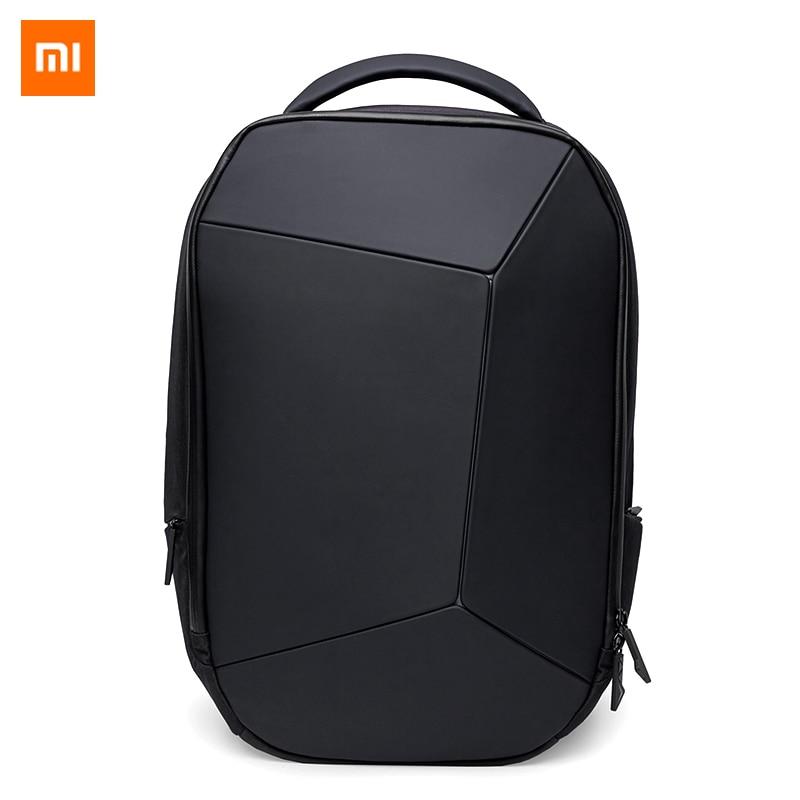 Original Xiaomi JIKE Cool élégant sac à dos géométrique épissage réfléchissant ergonomie Design résistant à l'eau 15.6 sac à dos pour ordinateur portable