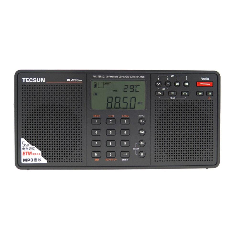 Tecsun PL-398MP נייד רדיו 2.2 ''מלא להקת דיגיטלי כוונון סטריאו FM/AM/SW רדיו מקלט MP3 נגן tecsun