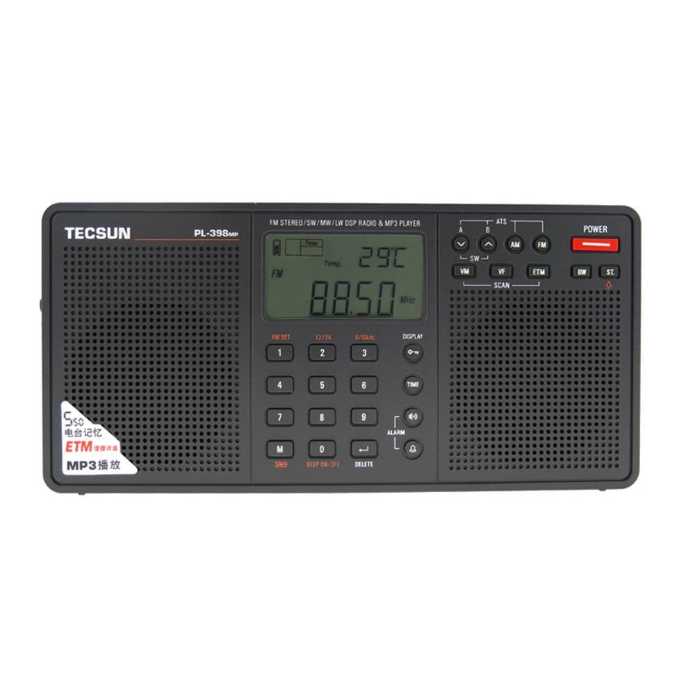 Tecsun PL 398MP Portable Radio 2.2'' Full Band Digital Tuning Stereo FM/AM/SW Radio Receiver MP3 Player tecsun