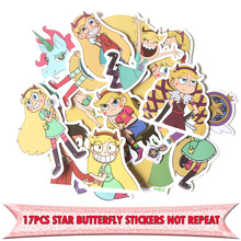 17pcs Star vs the Forces of Evil funny DIY scrapbooking album Luggage Laptop Motorcycle notebook decal Waterproof Sticker E0038