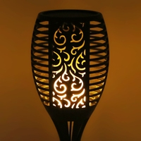 Solar Flame Flickering Lawn Lamp Led Torch Light Waterproof Outdoor Garden Decor L15