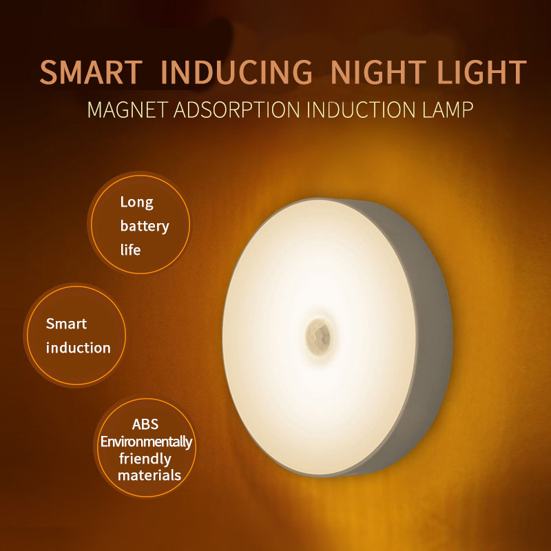 LED Infrared PIR Body Motion Sensor Rechargeable Induction led Night Light Wireless Detector Light Wall Lamp Light Closet Stair