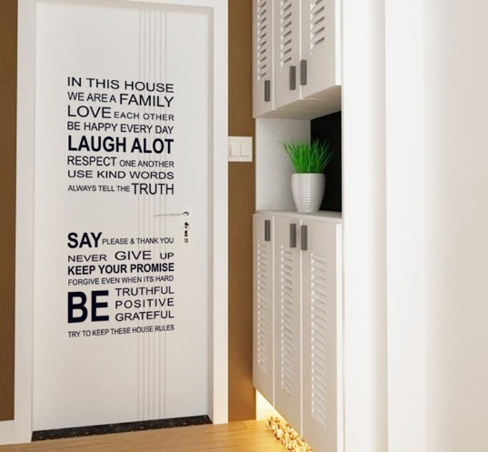 Marvelous Characters Wall Sticker Black Quote Letter Doors Stickers Glass Window  Decals Sticker DIY Home Decor Size