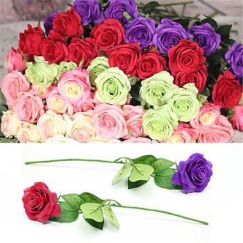 20# Fashion Beautiful 1Pc 1 Head Lifelike Artificial Faux Silk Rose Fake Flower Wedding Bridal Decor Cheap Fake Flowers rose