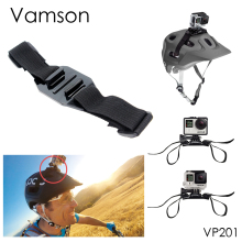 Go Pro Accessories Holder Helmet Head Adapter Strap Belt Mount Black Adjustable For Gopro Hero 5 4 3+ 2 1 Xiaomi yi Camera VP201