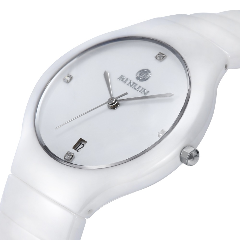 Skgen женские белые керамические кварцевые часы Роскошные наручные часы для женщин Повседневное платье relojes para mujer SKW2300 - 2