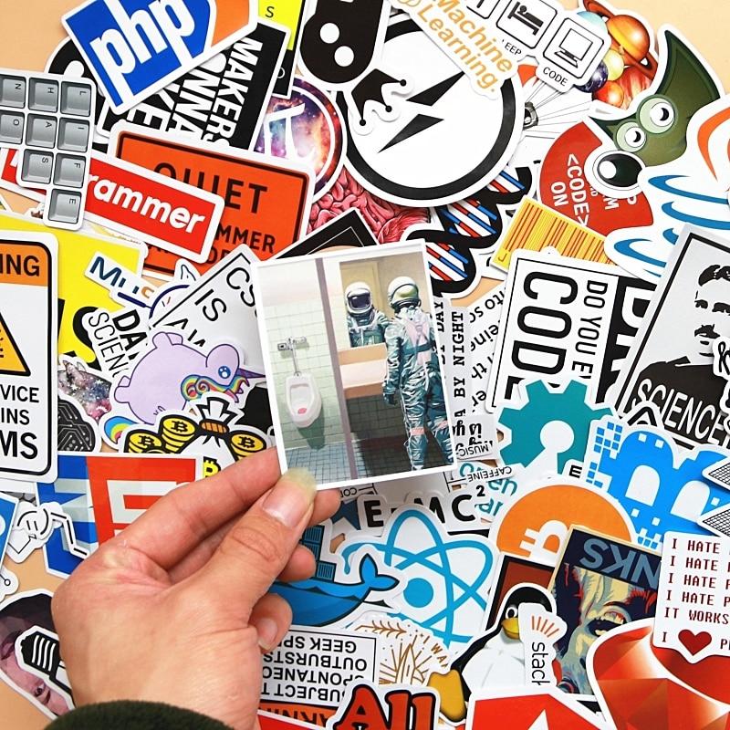 100 pcs Internet Programming stickers for Laptop Programer science JS Php C Language Cloud Docker Developer sticker in Stickers from Toys Hobbies