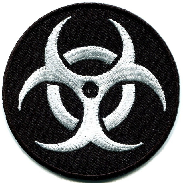 Free Shipping200 Pieces Lot Custom Made Biohazard Symbol Sign