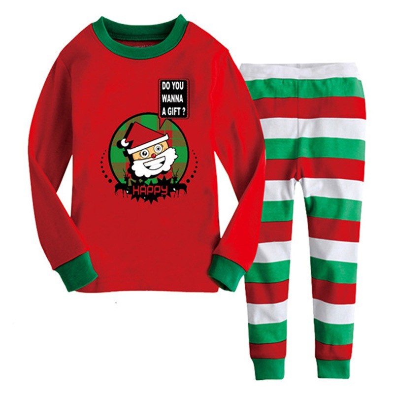 cartoon kids pajama sets children sleepwear boys nightwear girls family christmas pajamas retail toddler baby pyjamas 2 8y - Christmas Pjs Toddler