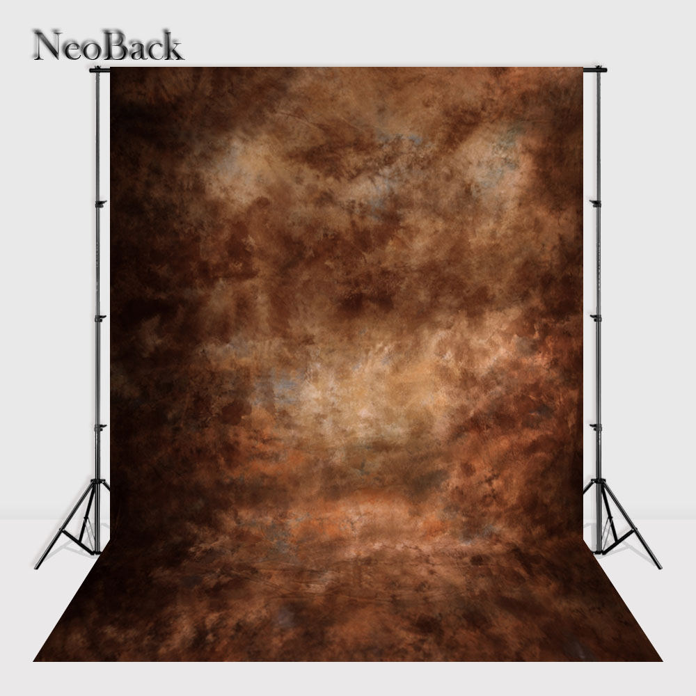 NeoBack 5x7ft Vinyl Cloth Brown Portrait Photography background Black texture background wall backdrops for Photo studio