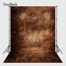 Neoback 5x7ft виниловая ткань коричневый портретной фотографии фон черный текстуры фоне стены фонов для фотостудии A1036