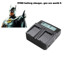 LVSUN Double Use DC & Car Universal Camera Battery Charger For Nikon ENEL10 For Olympus Li-40B Li 40B 42B Battery Recharger