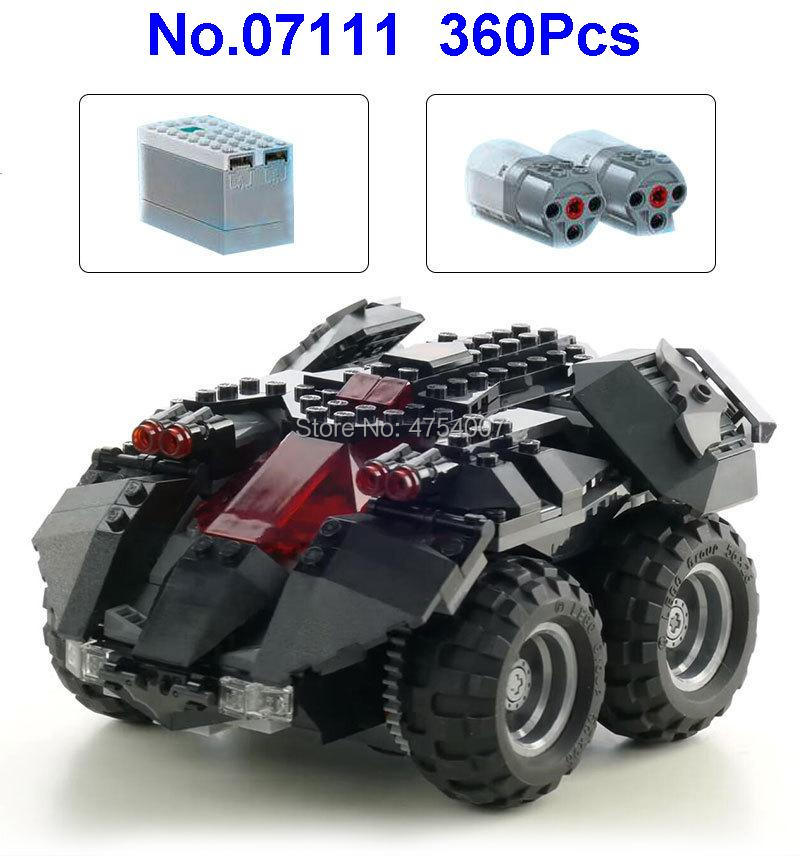 360pcs Super Heroes Batmobile Rc Remote Control Electric Building Blocks  76112 Toy