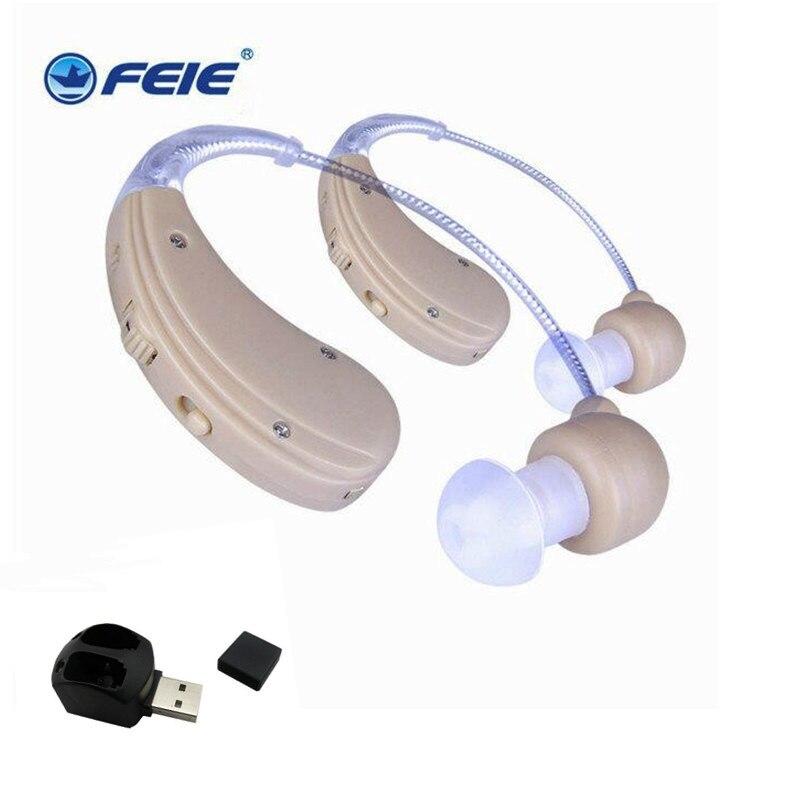 Aparelho Auditivo Behind The Ear Analog Hearing Aid Rechargeable Mini Ear Deaf Aids S-109S guangzhou feie deaf rechargeable hearing aids mini behind the ear hearing aid s 109s free shipping