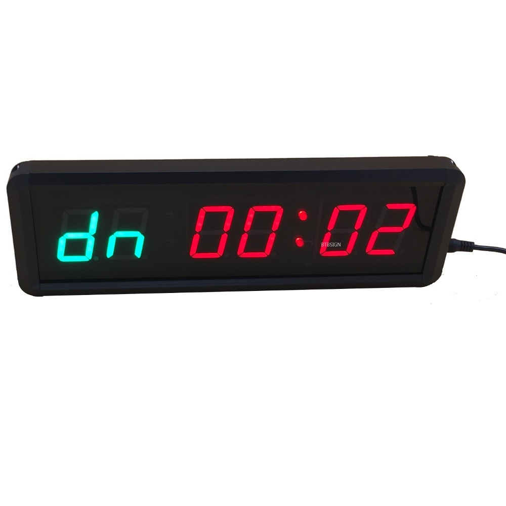 GYM BOXING MMA 1.5/'/' Timers High 6 Digits LED Countdown //up Clock For TABATA