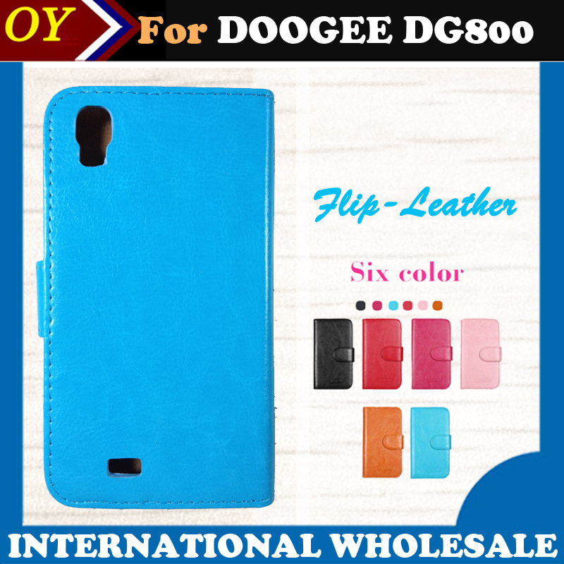 stock! Dedicated Flip Leather Customize Phone Cover Case DOOGEE VALENCIA DG800 Card Holder Wallet Business Style - ShenZhen OYO Technology Co., Ltd. store