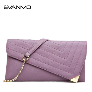 Genuine Leather Women's Clutch Bag Designer High Quality  Women Leather Purse Chain Shoulder Bags for Women