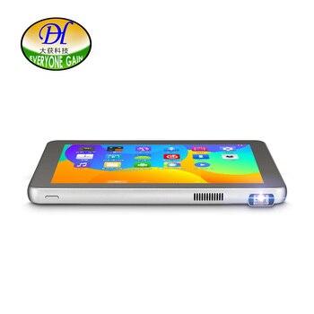 Todos ganan proyectores A800L tabletas DLP Mini proyector Android inalámbrico a través de PC portátil Mini teléfono Full HD tableta wifi Beamer