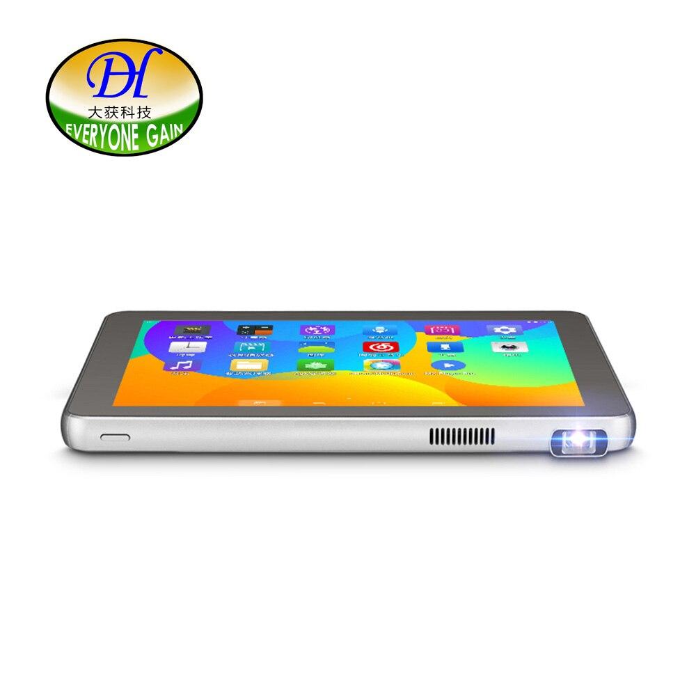 Tout le monde gagne A800L projecteurs DLP tablettes Mini sans fil Android projecteur via PC Portable Mini téléphone Full HD tablette wifi projecteur