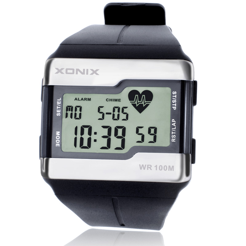 fashion heart rate monitor men sports health fitness calories watch 100 meters diving waterproof. Black Bedroom Furniture Sets. Home Design Ideas