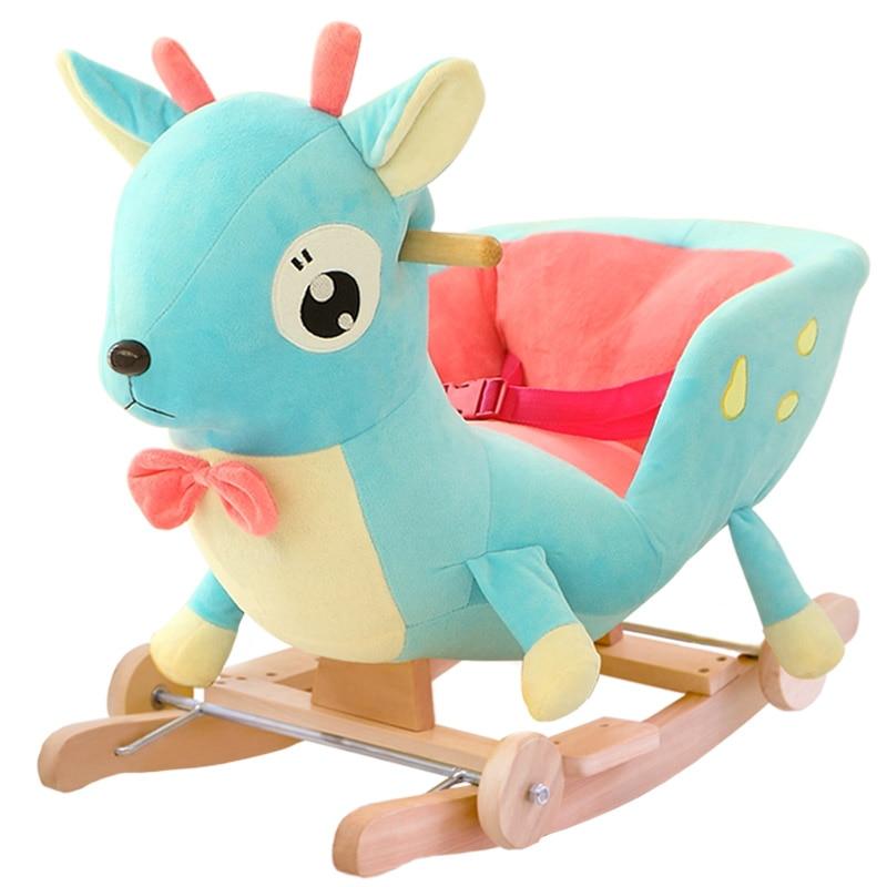 kingtoy plush baby rocking chair children wood swing seat kids