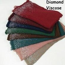 D12 High quality Diamond viscose hijab scarf wrap shawl wome