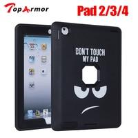 Toparmor עבור apple ipad 4 ipad 3 ipad 2 case כיסוי שריון Defender היברידי Heavy Duty מוקשח שלוש באחד גוף מלא מגן
