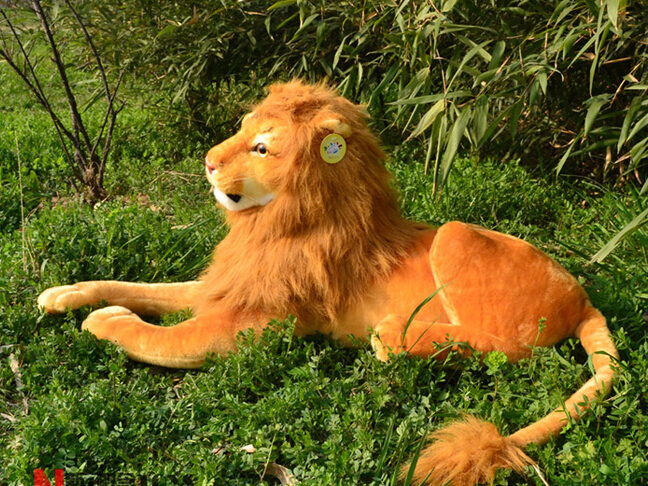 Lion Plush Toy Stuffed Animal Doll Simulation Toys For Children 90cm