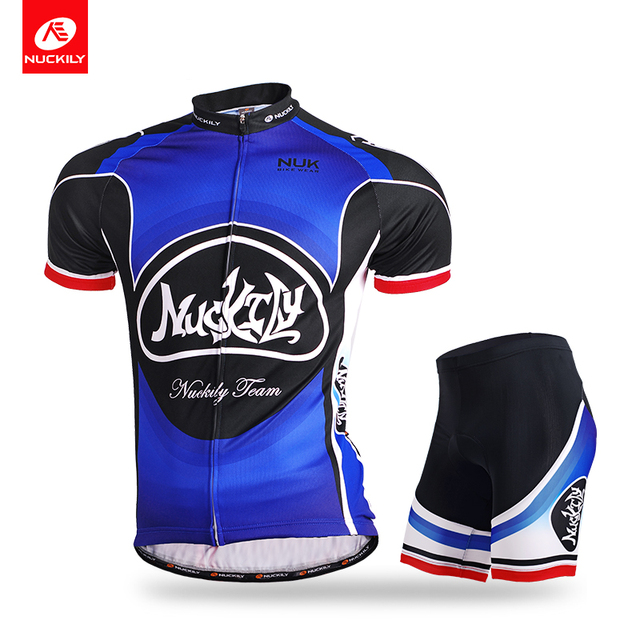 NUCKILY Summer Short Sleeve Cycling Jersey With Foam Pad Bicycle Short High  Quality Set For Men MA009MB009 4a7418230