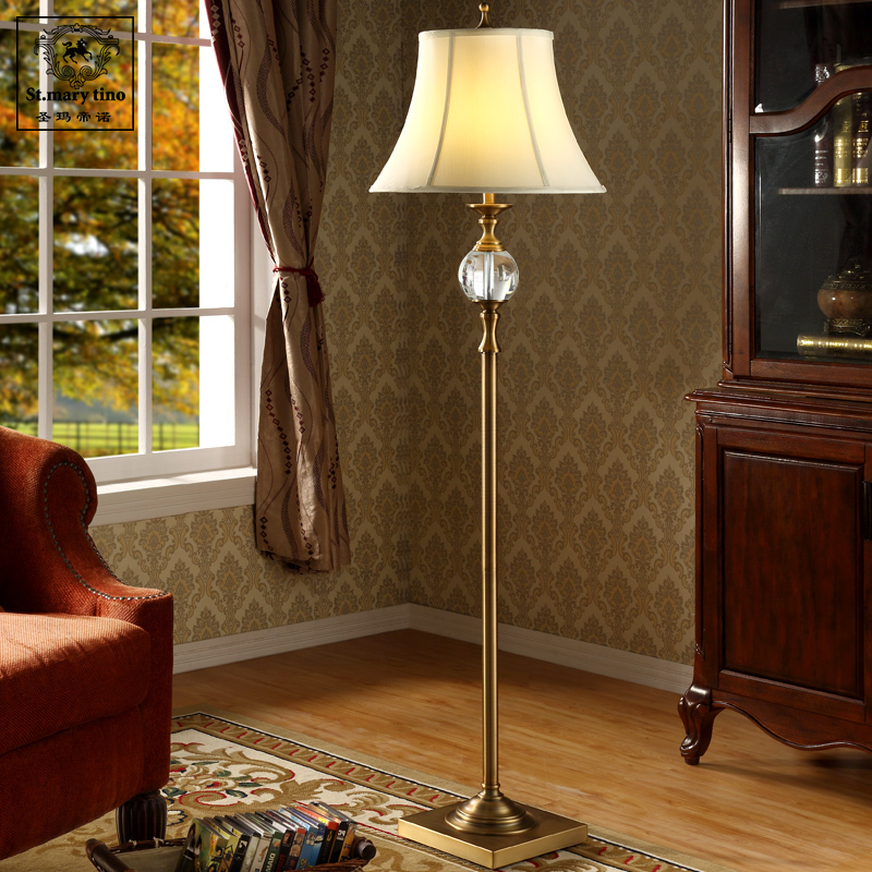 Nordic Amerikanischen Minimalistischen Retro Kristall Stehleuchte Wohnzimmer Couchtisch Stehend Lampe Studie Schlafzimmer Boden La