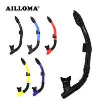 AILLOMA Sec Tuba Avec Support Réglable Plongée Snorkeling Tube Silicone Respiration De Natation Sous-Marine Tuba Pour Adulte