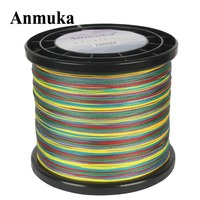 Anmuka Fishing Line 1000M Multicolor 1Meter 1 Color Mulifilament PE Braided Japan 4 Strands Braided Wires