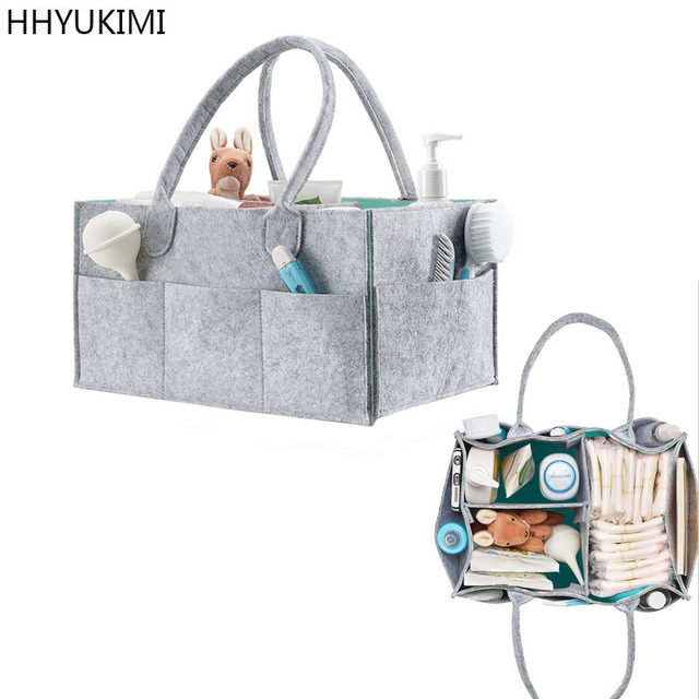 HHYUKIMI Foldable Baby Diaper Caddy Organiser Gift Kid Toys Portable Storage Bag/box for Car Travel Changing Table Organizere